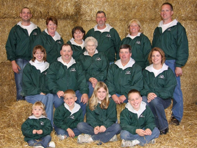 Welcome to Larson Acres, Inc.,  family picture. Click to enlarge.